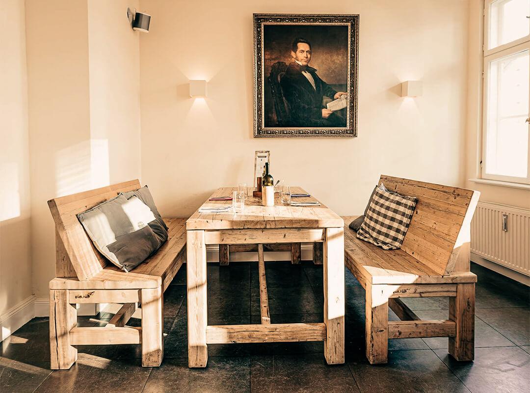 Gasthaus und Weinbar in der Hamburger Speicherstadt